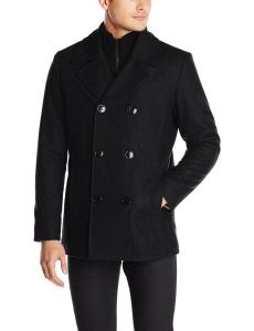 Kenneth Cole REACTION Men's Classic Peacoat with Bib