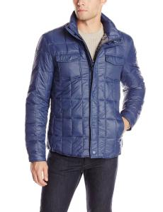 Kenneth Cole New York Men's Packable Quilted Shirt Jacket
