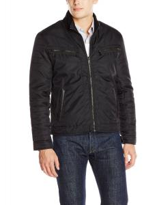Marc New York by Andrew Marc Men's Oliver Oxford Twill Moto Jacket