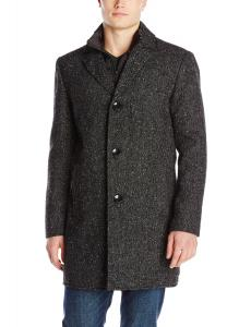 Kenneth Cole New York Men's Wool-Blend Walker Coat with Puffer Bib