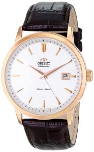 """Orient Men's FER27003W0 """"Symphony"""" Stainless Steel Watch with Brown Leather Band"""