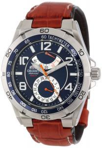 Orient Men's CFM00005D Power Reserve Semi-Skeleton Blue Automatic Watch