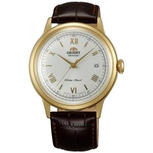 Orient ER24009W Men's Bambino White Dial Leather Strap Automatic Watch