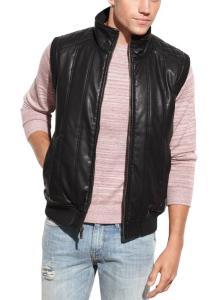 Guess Coat, Faux Leather Vest