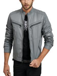 GUESS Men's Textured Zipper Jacket