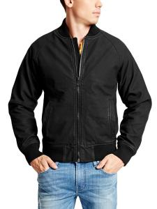 GUESS Men's Python-Embossed Baseball Jacket
