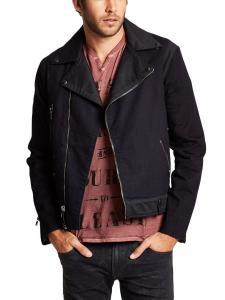 GUESS Men's Denim Moto Jacket