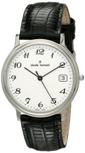 Claude Bernard Men's 70149 3 BB Classic Gents Analog Display Swiss Quartz Black Watch