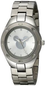 Disney Men's W001903 Mickey Mouse Analog Display Analog Quartz Silver Watch