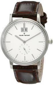 Claude Bernard Men's 64010 3 AIN Classic Gents Analog Display Swiss Quartz Brown Watch