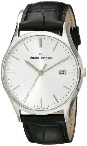Claude Bernard Men's 53003 3 AIN Classic Gents Analog Display Swiss Quartz Black Watch