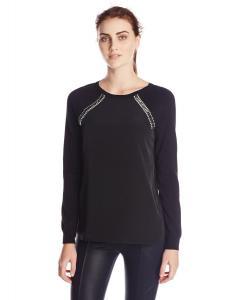 Calvin Klein Women's Sweater with Shoulder Jewels