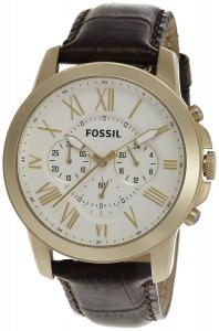 Fossil FS4767 Grant Brown Leather Strap Watch