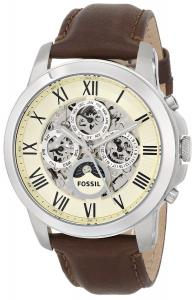 Fossil Men's ME3027 Grant Automatic Self-Wind Leather Watch - Brown
