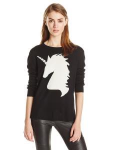 BCBGMAXAZRIA Women's Lucia Unicorn Intarsia Pullover Sweater