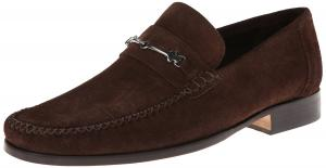 Bruno Magli Men's Pittore Suede Loafer with Bit and Cross-Stich Vamp