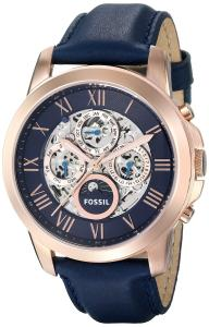 Fossil Men's ME3029 Grant Automatic Leather Watch - Blue