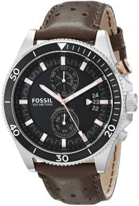 Fossil Men's CH2944 Wakefield Chronograph Leather Watch - Brown
