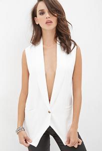 Áo nữ Lace-Paneled Tuxedo Vest