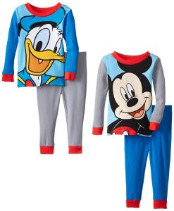 Komar Kids Baby-Boys Infant Mickey and Donald Cotton 4 Piece Pajama Set