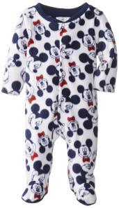 Bộ body cho bé Disney Baby Baby-Boys Newborn Mickey Mouse Micro-fleece Sleep and Play Pajamas