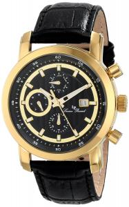 Đồng hồ Lucien Piccard Men's LP-12584-YG-01 Toules Analog Display Japanese Quartz Black Watch
