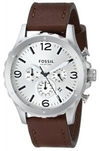 Đồng hồ Fossil Men's JR1473 Nate Chronograph Leather Watch - Brown