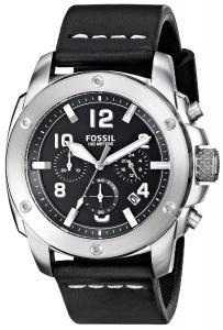 Đồng hồ Fossil Men's FS4928 Modern Machine Chronograph Leather Watch - Black