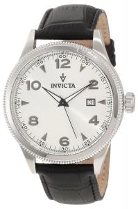 Đồng hồ Invicta Men's 12198 Vintage Silver Dial Black Leather Watch