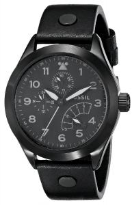 Đồng hồ Fossil Men's CH2940 The Aeroflite Multifunction Leather Watch - Black