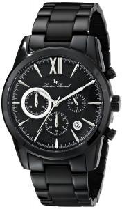 Đồng hồ Lucien Piccard Men's LP-12356-BB-11-SA Mulhacen Analog Display Japanese Quartz Black Watch
