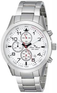 Đồng hồ Lucien Piccard Men's LP-13347-22 Vertex Analog Display Japanese Quartz Silver Watch