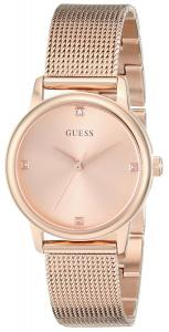 Đồng hồ GUESS Women's U0532L3 Rose Gold-Tone Mesh Watch with Genuine Diamond Markers & Self-Adjustable Bracelet