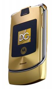 Điện thoại Motorola RAZR V3i Dolce & Gabbana Unlocked Phone with MP3/Video Player, and MicroSD--International Version with No Warranty (Gold)