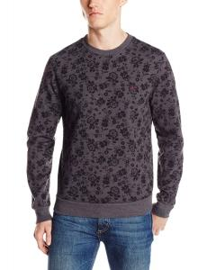 Áo Original Penguin Men's Floral-Print Fleece Pullover Sweater