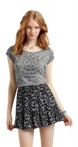 Váy Aeropostale Women's Lorimer Contrast Floral Ruffle Skirt