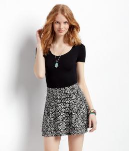 Váy Aeropostale Women's Printed Pucker Skirt