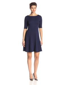 Váy Julian Taylor Women's Petite Textured Knit Fit and Flare Dress