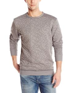 Áo G-Star Men's Geometric Quilted Crew-Neck Sweatshirt