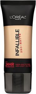 Phấn nước L'Oreal Paris Cosmetics Infallible Pro-Matte Foundation Makeup, Classic Ivory, 1 Fluid Ounce