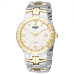 Đồng hồ Citizen Quartz Date Two Tone White Dial Men's Watch - BK2324-51A