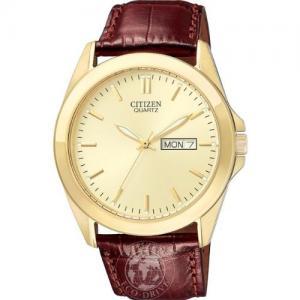Đồng hồ Citizen Men's Quartz Brown Leather Watch