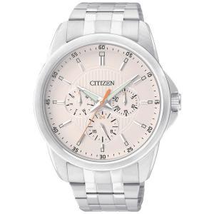 Đồng hồ Citizen AG8340-58A Men's Quartz Stainless Steel MultiFunction Beige Dial Watch