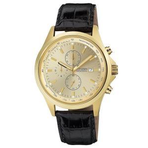 Đồng hồ Citizen Chronograph Gold Dial Men's Quartz Watch - AN3512-03P