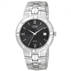 Đồng hồ Citizen Quartz Date Round Black Dial Men's Watch - BK2320-52E