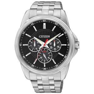 Đồng hồ Citizen AG8340-58E Men's Quartz Stainless Steel MultiFunction Black Dial Watch