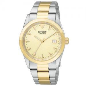 Đồng hồ Citizen Quartz Date Champagne Dial Men's Watch - BK1414-56P