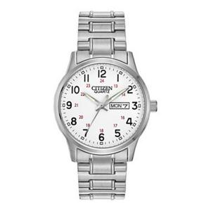 Đồng hồ Citizen BF0610-91A Men's Easy Reader White Dial Expansion Steel Bracelet Watch