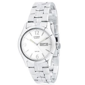 Đồng hồ Citizen Quartz Day Date Silver Tone Dial Men's Watch - BK3830-51A