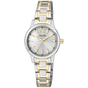 Đồng hồ Citizen EL3034-58A women's small round face silver dial silver and gold bracelet